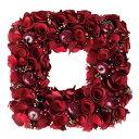 大橋新治商店 木の実のリース natural wreath リース スクエア  レッド 28-037