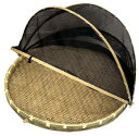竹製盆ザル ネット付 55cm