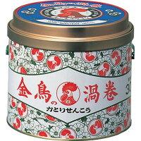 金鳥の渦巻 蚊取り線香 缶(30巻)