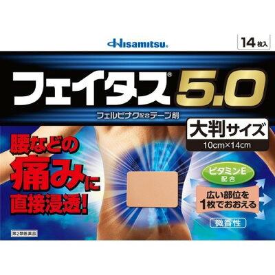 フェイタス5.0 大判サイズ(セルフメディケーション税制対象)(14枚入)