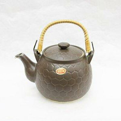 ウチダ和漢 高級耐熱亀甲土瓶 2L 茶