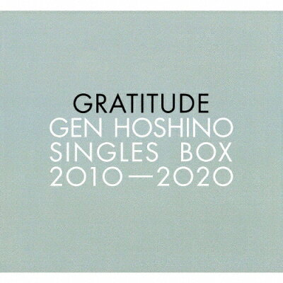 "Gen Hoshino Singles Box""GRATITUDE""(特典DVD付)/CD/VIZL-1794"