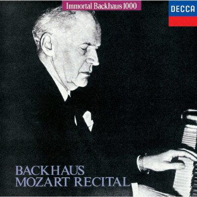 バックハウス・モーツァルト・リサイタル/CD/UCCD-9176