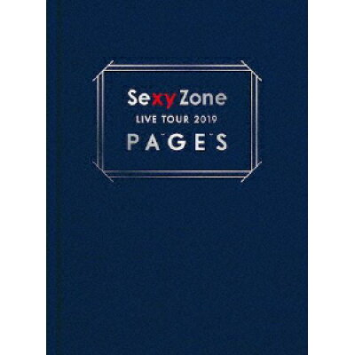 Sexy Zone LIVE TOUR 2019 PAGES(初回限定盤DVD)/DVD/PCBP-53281