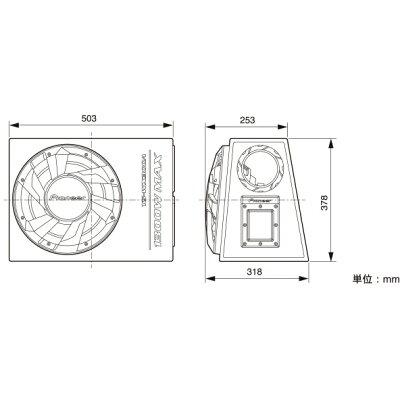 パイオニア パイオニア 30cm パワードサブウーファー TS-WX300A TS-WX300A