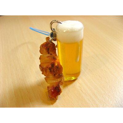 サンプル屋さんのストラップ(ビール:焼き鳥付き)
