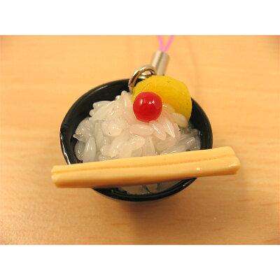 サンプル屋さんのストラップ(茶碗ふっくら白米)