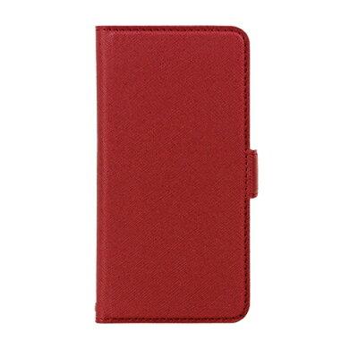 ラスタバナナ PB iPhone8/7 サフィアーノ調落下防止手帳ケース ワインレッド BKSIP8T09