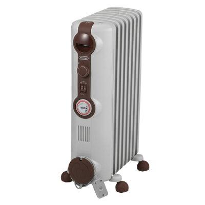 デロンギ オイルヒーター 1200W 8~10畳 JR0812-BR ホワイト+ブラウン