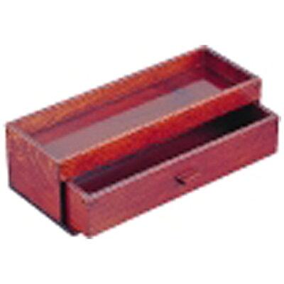 木製 カスター&箸箱 ブラウン