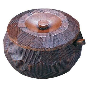 YAMACO/ヤマコー 摺り漆木製飯器セット 蓋付 大25782