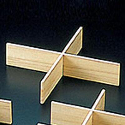 桐・おせち用重箱 6.5寸用仕切 2本組 約18.1x18.1xH4cm【業務用】【用美(ヤマコー)】