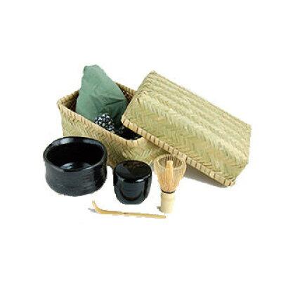 ヤマコー New 茶器茶喜 ちゃきちゃき お抹茶セット 黒天目碗・80617 1020827