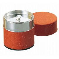 YAMACO/ヤマコー ブリキ 茶筒 ぽっかん S 100g入 レッド 81328