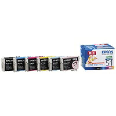 EPSON  インクカートリッジ IC6CL51 6色