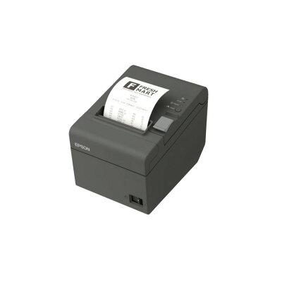 EPSON サーマルレシートプリンター/ 80mm・58mm/ 最大200 秒/ 有線LAN対応/ ダークグレー/ 電源同梱 TM202E033