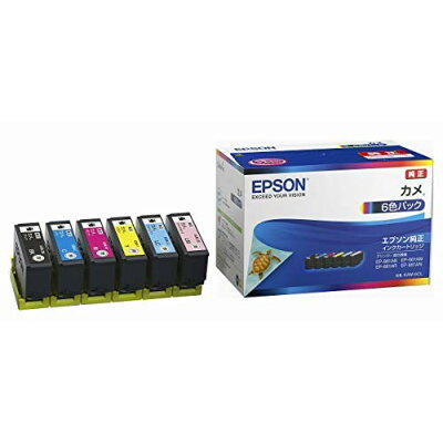 エプソン インクカートリッジ KAM-6CL カメ EP-881Aシリーズ 6色パック(1セット)