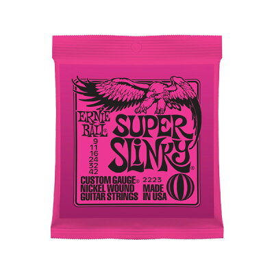 ernie ball アーニーボール エレキギター弦 #2223 super slinky   スーパー・スリンキー