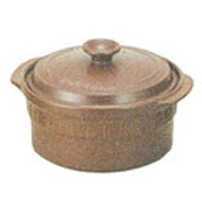 西日本陶器 ニュートーセラム鍋 24cm 深型 直火用 セピア