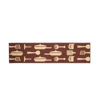 BSP キッチンマット ツール柄ブラウン 180cm
