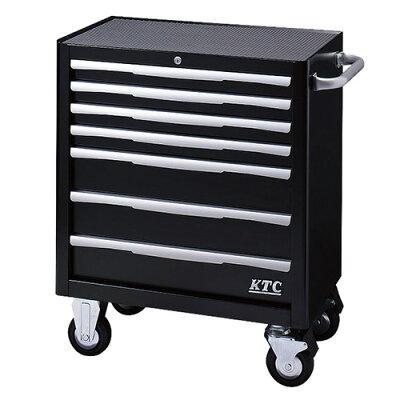 KYOTO TOOL/京都機械工具 ローラーキャビネット 7段7引出し ブラック EKW-1007BK