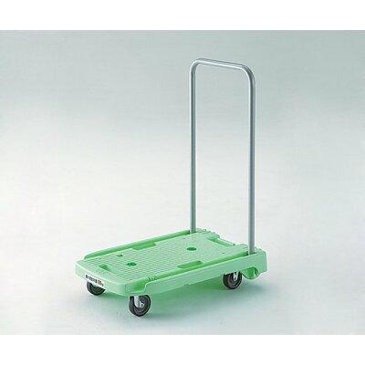 TRUSCO 小型樹脂製台車こまわり君 省音タイプ 600X390 グリーン