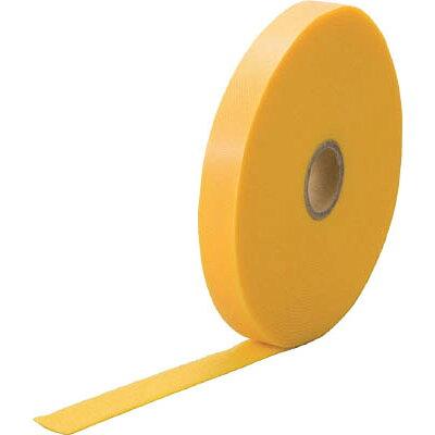 TRUSCO マジックケーブルロールタイ 幅15mmX長さ10m黄