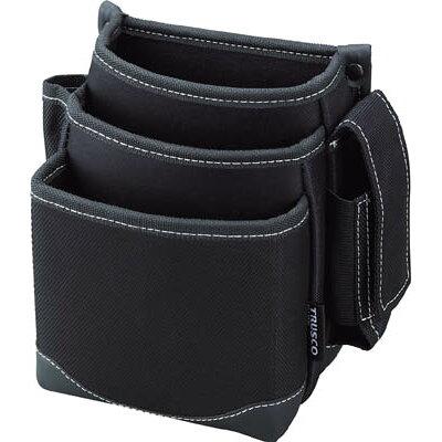 TRUSCO 腰袋 3段 携帯電話ホルダー付き ブラック