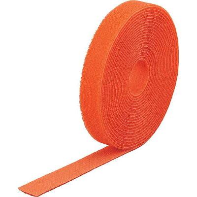 TRUSCO マジック結束テープ 両面 オレンジ 40mm×25m