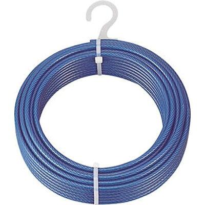 TRUSCO メッキ付ワイヤロープ PVC被覆タイプ Φ4 6 mmX50m CWP4S50