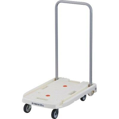 TRUSCO 小型樹脂製台車 こまわり君(折りたたみハンドルタイプ・省音タイプ) ホワイト MP-6039N2-W(1台)