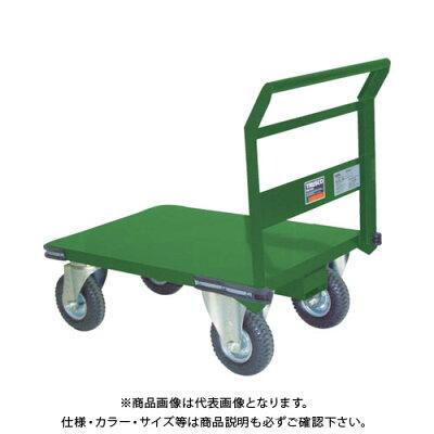 TRUSCO 鋼鉄製運搬車 プレス製空気入タイヤ付 1200X750 SH-1N-AR