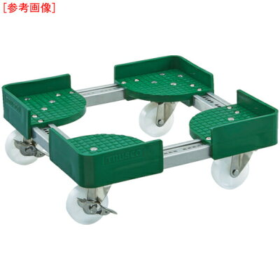 TRUSCO 伸縮式コンテナ台車SUS 内寸300-400X600-700 S付 FCD-3060SUS-S