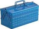 TRUSCO 2段工具箱 350X160X215 ブルー