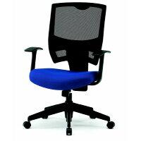 TRUSCO オフィスチェア メッシュタイプ 布張 ブルー
