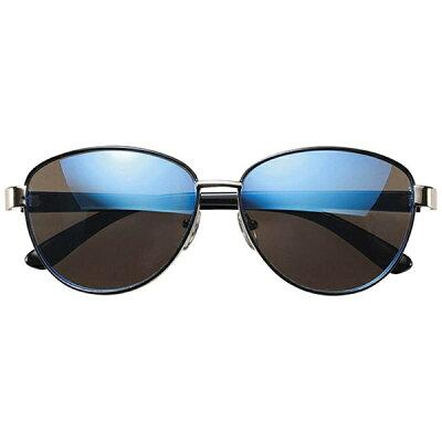 名古屋眼鏡 ファッションサングラス ライトゴールド×ブラック/スモークブルーミラー 7869-01