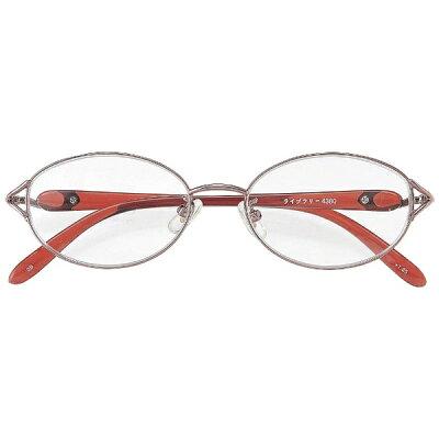 名古屋眼鏡 シニアグラス ライブラリー 4380 ピンクメタル/+3.00