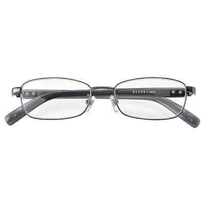 名古屋眼鏡 シニアグラス ライブラリー 4370 グレーメタル/+4.50