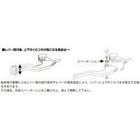 K-PIT ケーピット(CBR400R ABS用)ブレーキレバー HR-14(シルバー)