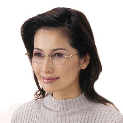 R-2145 ツーポイント アイムエレガント シニアグラス(ポケットシニアグラス付き) 婦人用 透明 +1.00 (0238273)