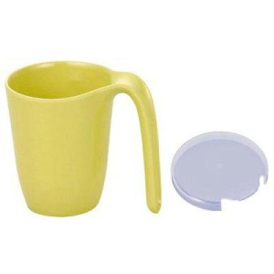 信濃化学工業 シンカ ユニバーサルデザイン食器 マグカップ大 きはだ 3個 (PP-389蓋付) 971