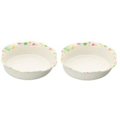 シンカ(信濃化学工業) ユニバーサルデザイン食器 16cm 深皿「水玉」×2枚 954-MI