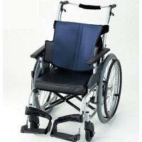日進医療器 車いす 自走型 座王(NA-501A) 5215-2300 グレイッシュブルー