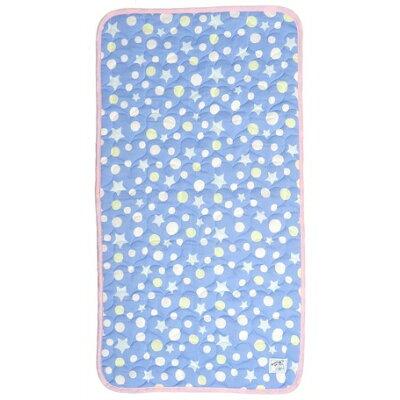 シロクマ印のひんやり 冷感 ごろ寝マット ブルー KMJ32-81-3