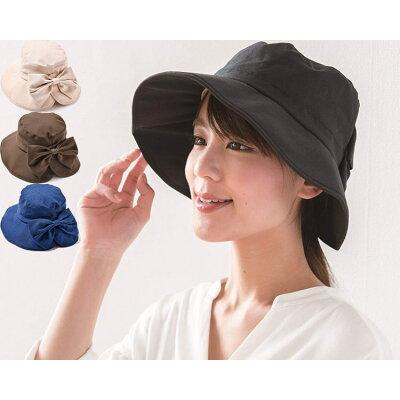 帽子 レディース UV SHF ツバ広女優帽 NUV-46