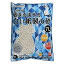 猫砂 クリーンミュウ ミュウサンド 固まる流せる白い紙製の砂(7L)