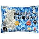 猫砂 クリーンミュウ ミュウサンド 固まる流せる白い紙製の砂(13.5L)