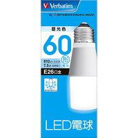 三菱化学メディア Verbatim LED電球26口金 T型 昼光色 60W相当 LDT8D-G/V2