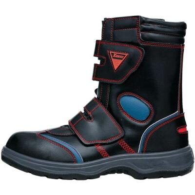 ジーベック XEBEC 合皮 長靴マジック 71/レッド 85204