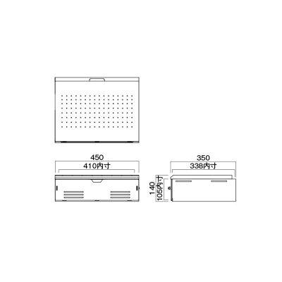ハヤミ工産 棚板ダブル MHP-21W ホワイト